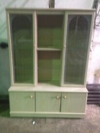 Display cabinet with inside lights