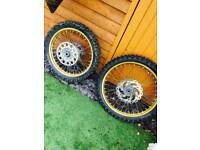 Yz 250 Wheels/Mx Boots/handgaurds