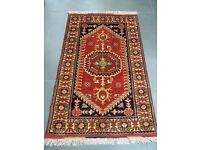 Authentic Afghan Rug - Hand Made with 100% Wool - 128 x 80cm