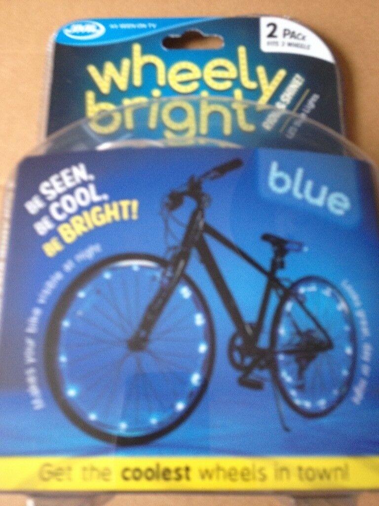 JML Wheely Bright LED Bike Lights Green 2 Pack Free Shipping