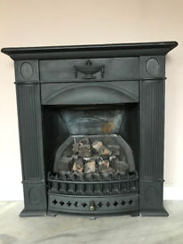 Cast Iron fireplace and gas fire