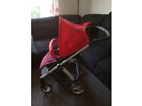 Mamas and Papas Sola 2 Pushchair and Adaptors in Bright Red