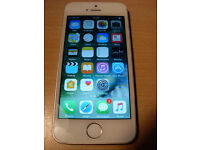 Apple iphone 5S in Silver, 16Gb, Unlocked to any Network, Finger print reader not working.