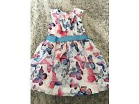 M&S beautiful butterfly dress age 5-6