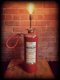 Industrial Fire Extinguisher Light - Original 1960's Fire Extinguisher