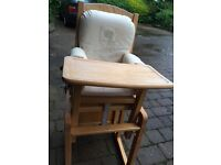 Convertible Wooden Highchair-- Almost Free
