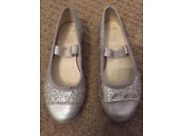 Girls Clarks Party Shoes. Size 10.5