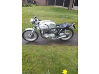 Triton 650 Classic Motorcycle. Norton featherbed frame 1959