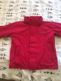 Girls pink regatta rain jacket