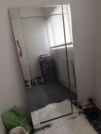Freestanding large mirror