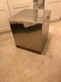 Chrome coffee table/ bedside table