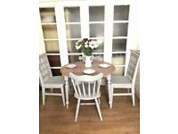Shabby chic table and 4 chairs free delivery Ldn🇬🇧