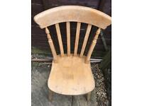 Wooden chair - free