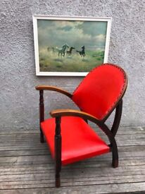 Original Art Deco Library Chair / Occasional / Hall Chair