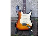 1995 Squier Strat by Fender - Made in China - Sunburst - Electric Guitar