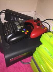 Black Xbox 360 + 18 Xbox games + 2 controllers