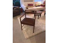 2 pair teak carver chairs midcentury immaculate