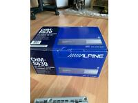 New Alpine 6 CD Changer and Used Car Stereo Player plus accessories.