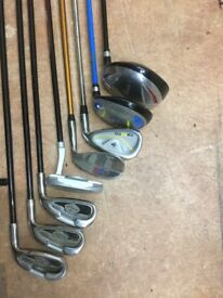 Kids Dunlop golf clubs with bag