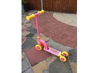 GIRLS PINK MY FIRST SCOOTER IN GREAT CONDTION