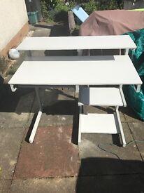 Silver/Grey computer table