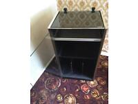 Sony Hi Fi cabinet glass door with lid, vinyl record compartment