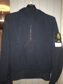 Stone island soft shell navy jacket genuine with tags.