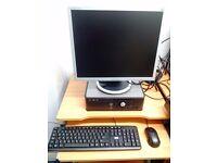 Dell Desktop PC - (Windows 10) - 19 inch Monitor - Dual Core – 2 GB RAM - WiFi - 160GB HDD