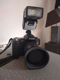 Nikon D80 Camera and Light