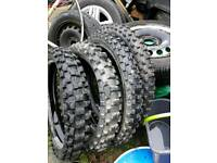 """Moto-cross tyres 19""""and 21"""""""