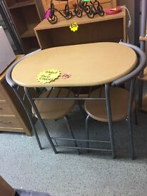 Compact Table and Two Chairs