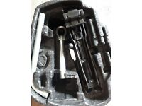 VW Fox Car Jack, Tow Hook and Wheel Nut Wrench.