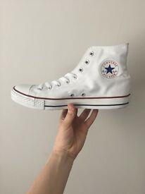 Brand New White High Top Converse