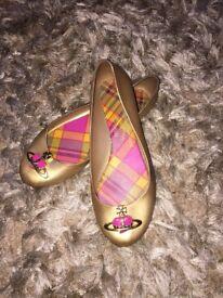 Vivienne Westwood gold shoes