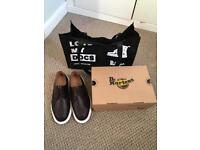 Dr Doc Martens Brown shoes size 6 BRAND NEW IN BOX