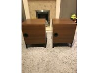 Pair of wooden bedside tables