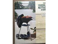 ( New and Sealed ) Tesco Starter Kettle BBQ Set including Tools and Lid