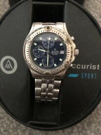 Men's accurist sports watch. Water resistant 50m. Used. Comes with box