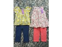 Girls tops & leggings age 5-6