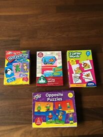 Various Kids learning games/puzzles