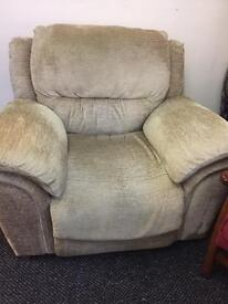 Fabric Electric Recliner Armchair