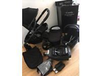 Icandy peach 3 jet black stroller pram I candy travel system set