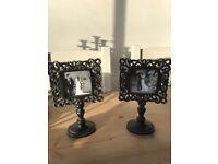 Vintage style black Picture frames x2