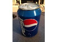 Pepsi Cola Blue Mini fridge beer drinks counter can collectable rare advertising cooler