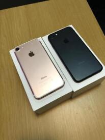 iPhone 7 128gb Rose Gold and Matt black boxed