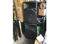 Pair of Carlsbro Orion Active 15 speakers