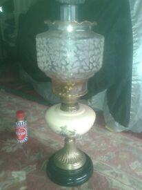 antique, vintage oil lamps