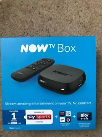 Now TV Box. Brand new boxed. Turns your TV into smart TV