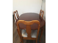 Mahogany dining table and 4 chairs for sale- £60 ONO