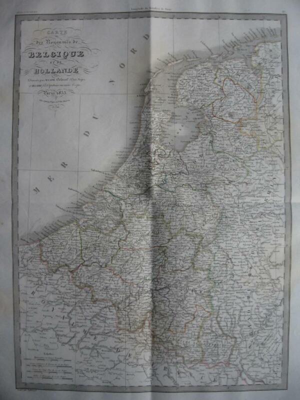 1833 - LAPIE - Large map  BELGIUM NETHERLANDS LUXEMBURG  Belgique Luxembourg